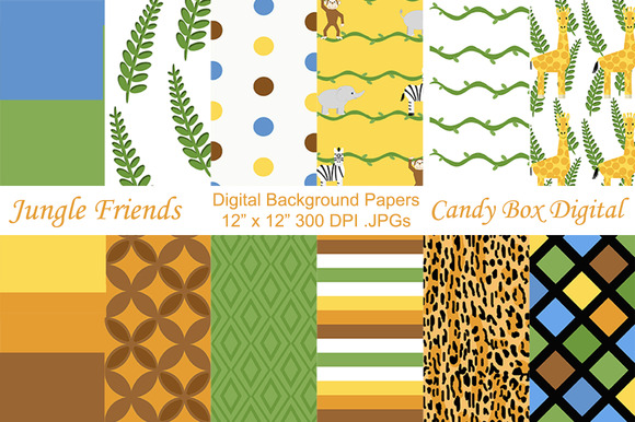 Jungle Safari Digital Papers