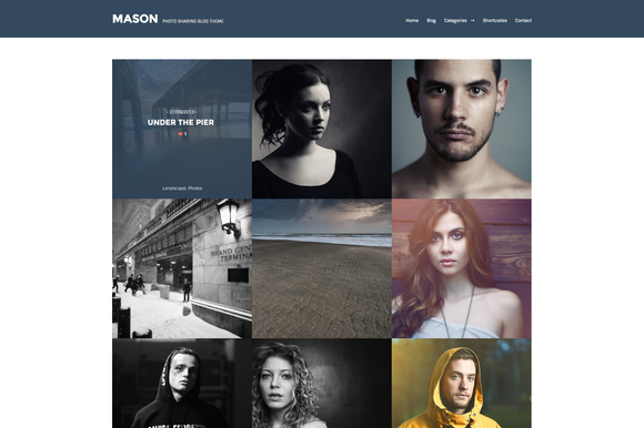 Mason Responsive Photo WP Theme
