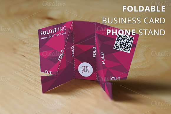 Foldable Business Card Phone Stand