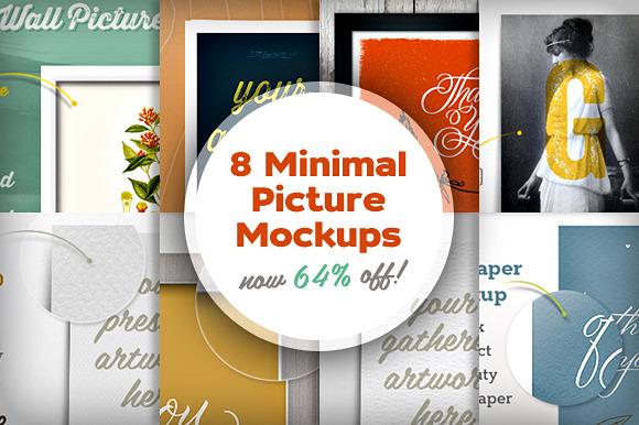 8 Minimal Picture Mockups