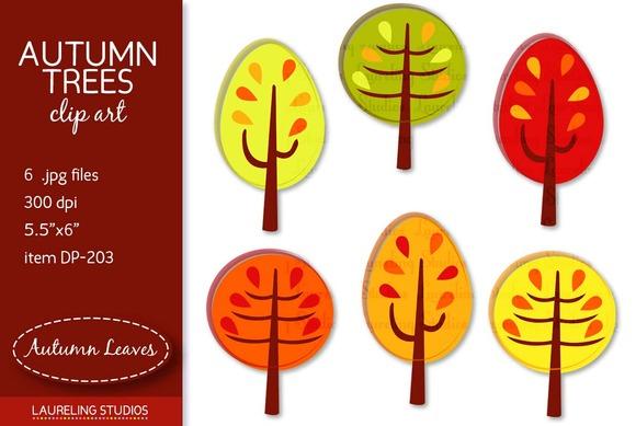 Autumn Trees Clip Art