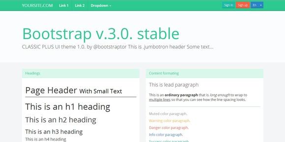 Bootstrap 3.0 WhiteGreen Flat Theme