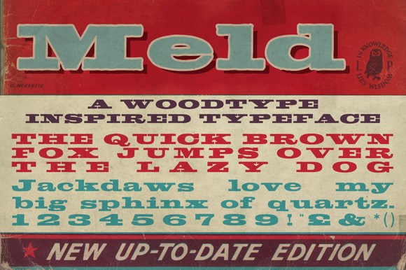 Meld Bold Extended Typeface