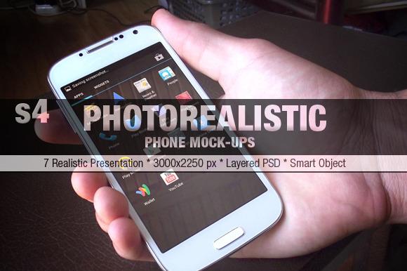 S4 Phone Realistic Mock-Ups