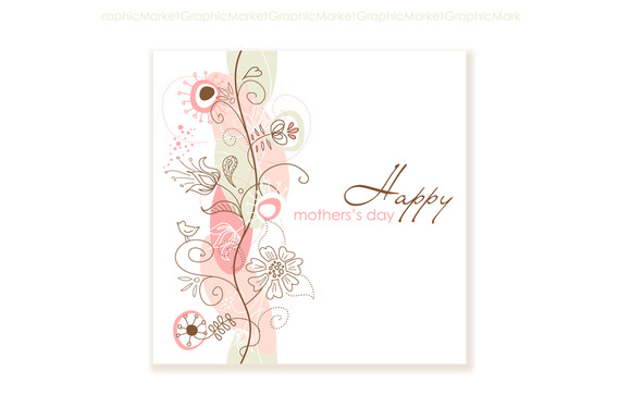 Floral Hand Drawn Mother S Day Card