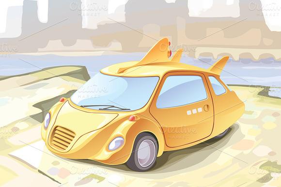 Retro-styled Small City Car