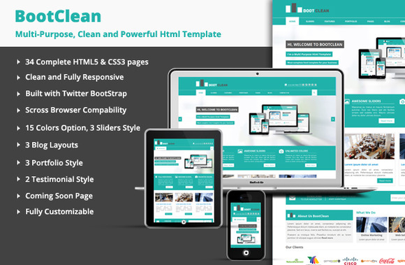 BootClean Business Template
