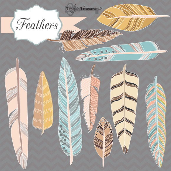 Feather Graphic Set