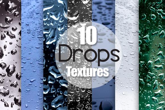 10 Water Drops Textures