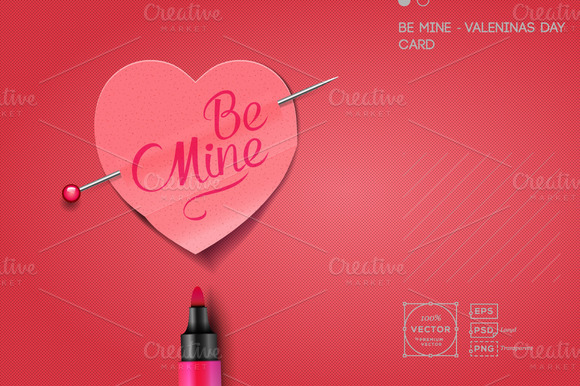 Be Mine Valentine S Day Card
