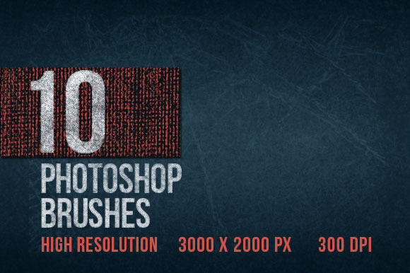 10 Large High-res PS Texture Brushes
