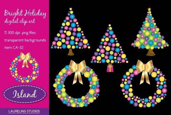 Bright Holiday Clip Art