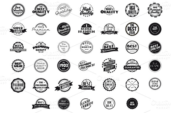 40 Premium Badges