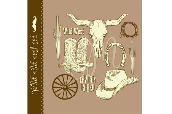 Cowboy Clip Art Wild West Western