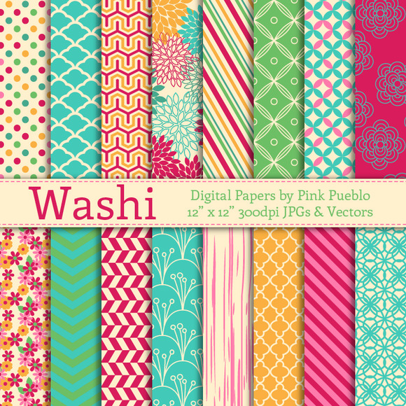 Washi Papers And Backgrounds