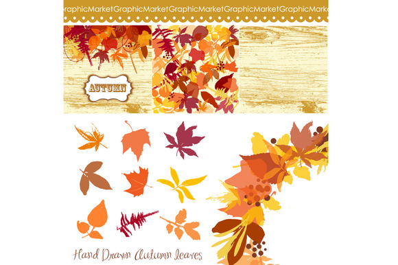 Fall Leaves Clip Art Floral Wreath