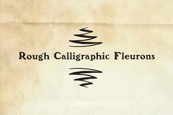 Rough Calligraphic Fleurons