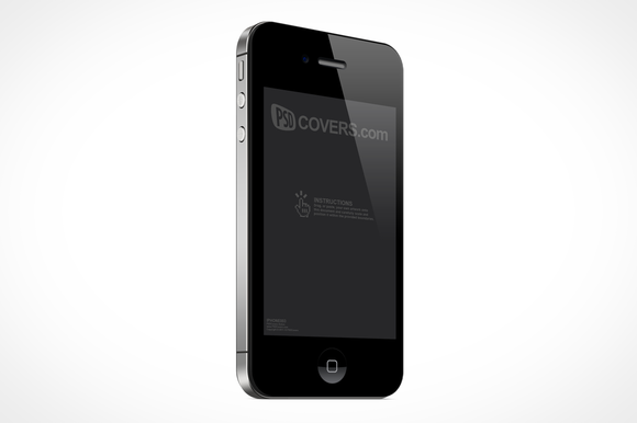 IPhone 4S Right Quarter View Mockup