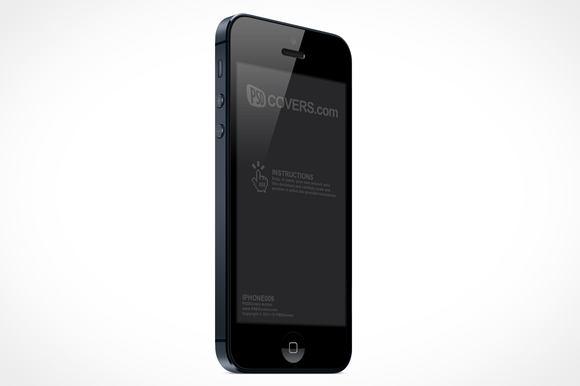 IPhone 5 Right Quarter View Mock-Up