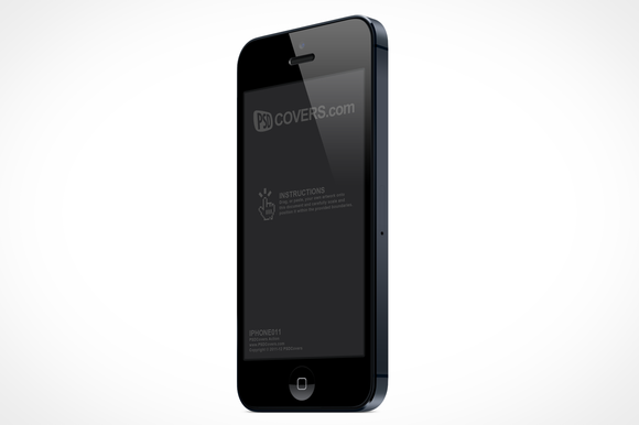 IPhone 5 Left Quarter View Mock-Up