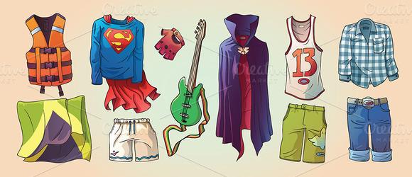 Some Original Clothes And The Guitar