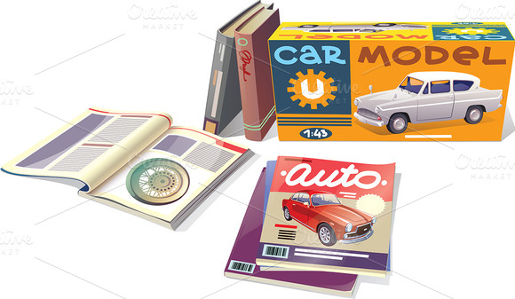 Magazines Books And The Car Model