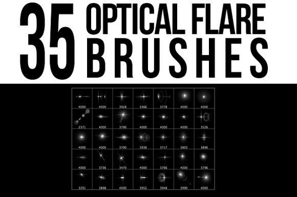 35 Optical Flare Brushes