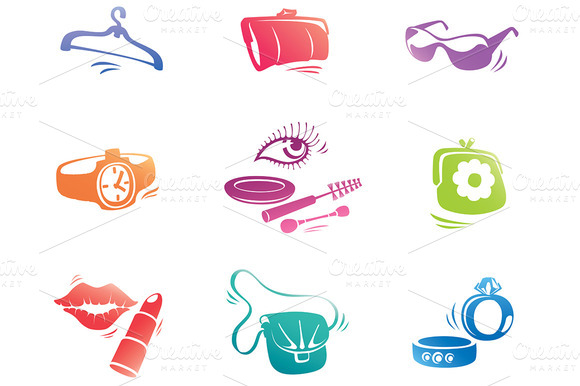 Fashion Accessories Icons Set