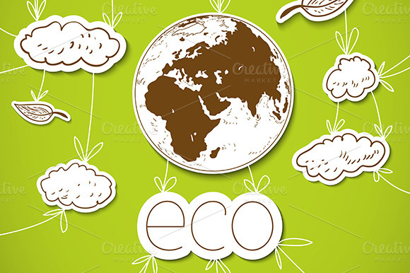 Eco Cartoon Background