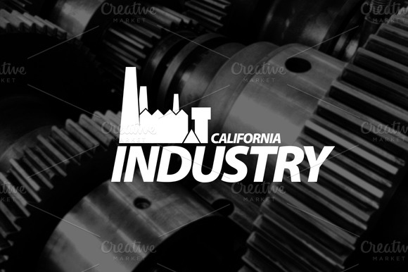 Logo Template California Industry