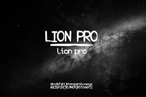 Hand Drawn Font Lion PRO