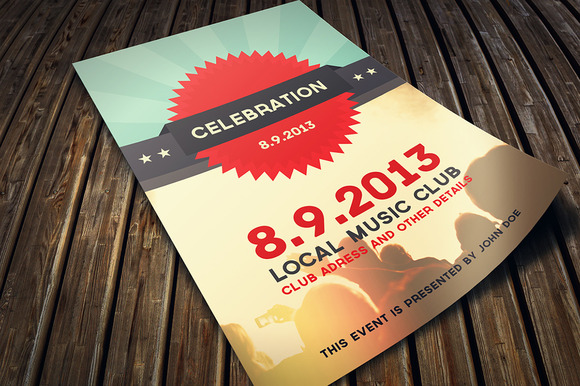 Celebration Music Flyer PSD