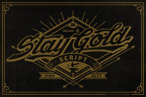 Stay Gold Script Web Font Bonus