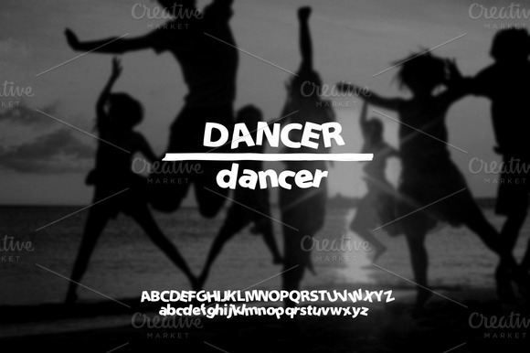Hand Drawn Font Dancer