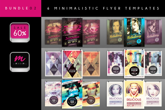 Sale 60% 6 Flyer Templates Bundle