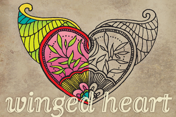 Vector Bitmap Winged Heart