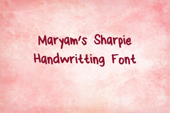 Maryam S Sharpie Handwriting