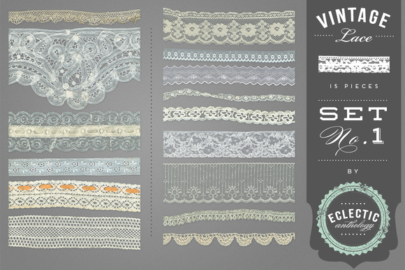 Vintage Lace Embellishments Set 1