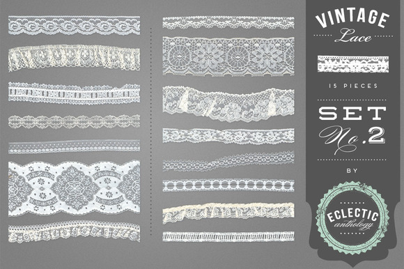 Vintage Lace Embellishments Set 2