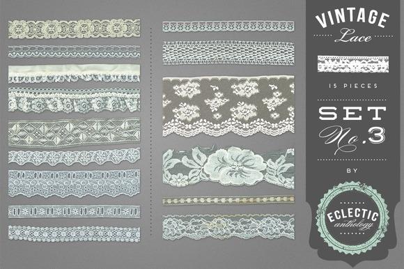 Vintage Lace Embellishments Set 3