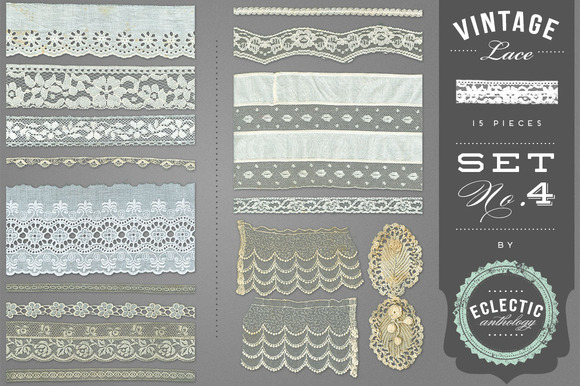 Vintage Lace Embellishments Set 4