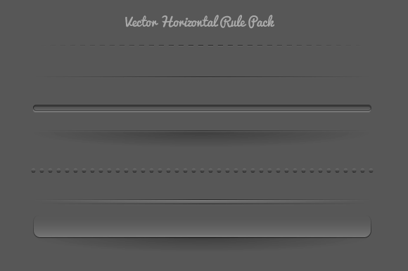 Vector Horizontal Rule Pack