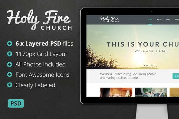 Holy Fire Church PSD