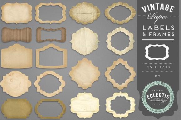 Vintage Paper Labels Frames