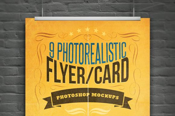 Realistic Flyer Card Mock-Ups Vol.1