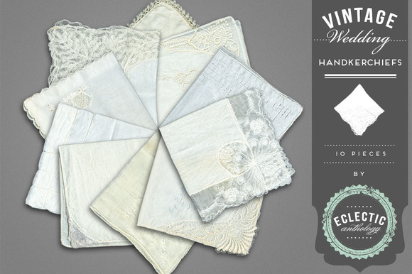 Vintage Lace Wedding Handkerchiefs