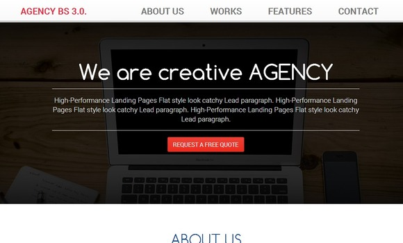 BootAgency Bootstrap 3.0 Template