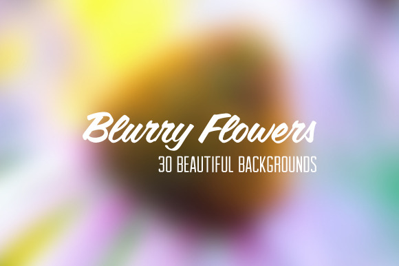 30 Blurry Flower Backgrounds
