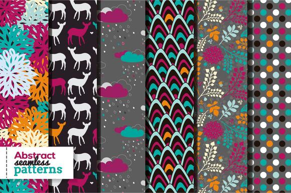 Set Of 6 Bright Seamless Patterns