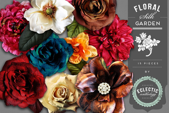 Silk Flower Garden Embellishments